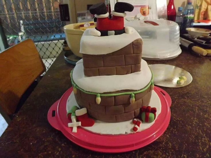 When santa got stuck in the chimney recipes cake Santa stuck in chimney cake