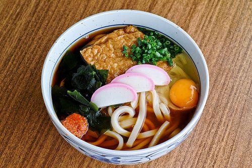 kitsune tsukimi udon | Food | Pinterest