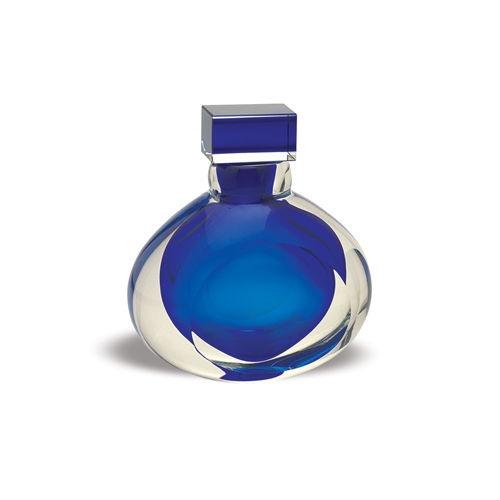 "BADASH 5.75"" ROYAL BLUE Crystal Modern Perfume Bottle"