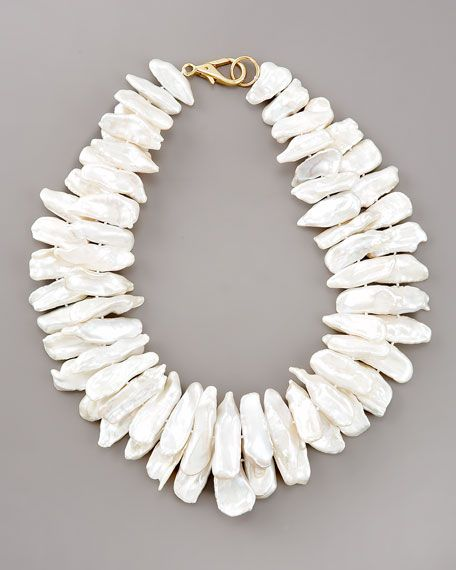 Nest double-strand pearl necklace. (Not your average pearl necklace)