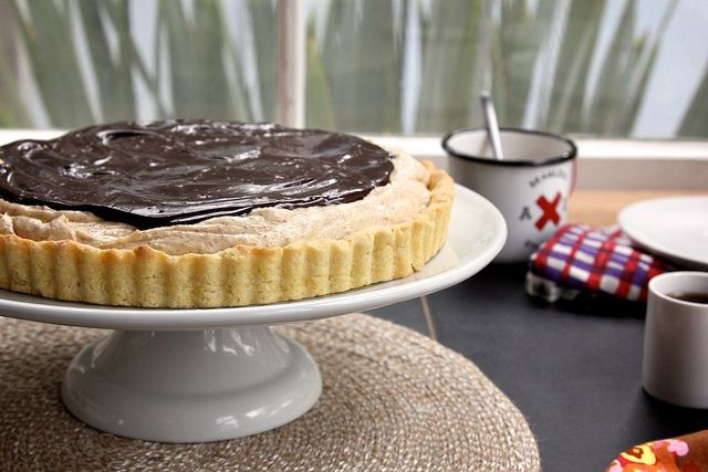 honey almond butter and chocolate tart | Chocolate anything | Pintere ...