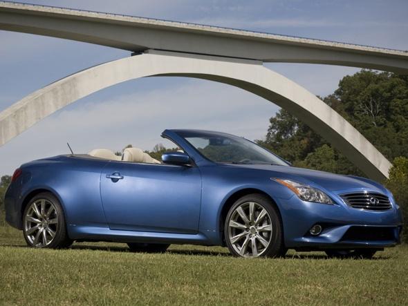 Carro Infinit G modelo 2012, o segundo melhor conversível do ano de acordo com o site Total Car Score