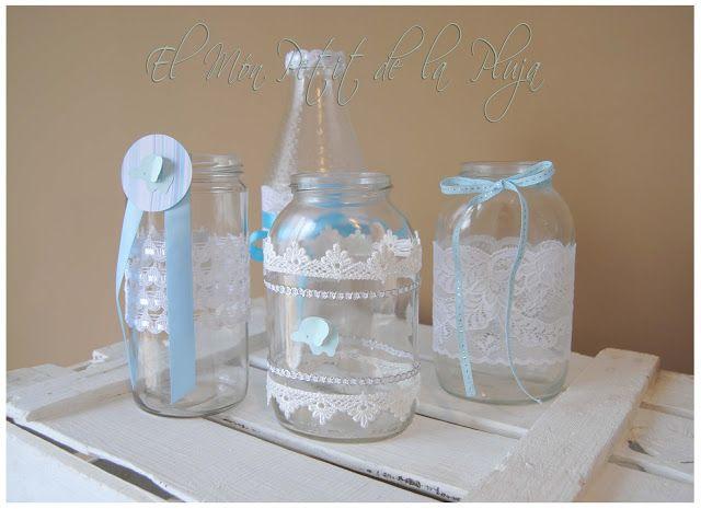 Frascos de vidrio decorados para baby shower imagui - Diy frascos decorados ...