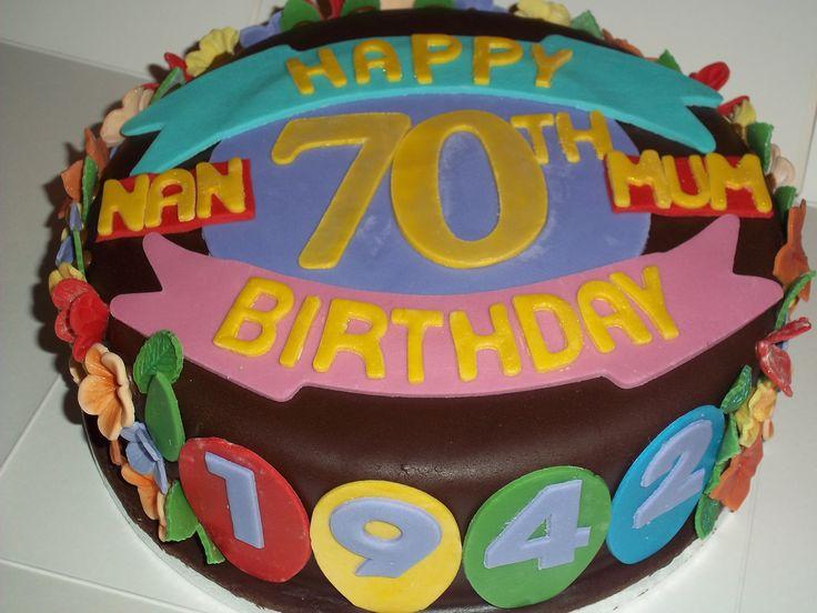 70th Birthday Cake Lola 70 Pinterest