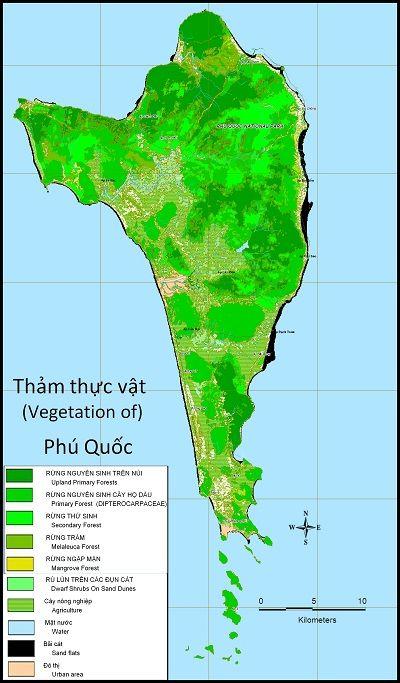 Bản đồ thảm thực vật phong phú của Phú Quốc