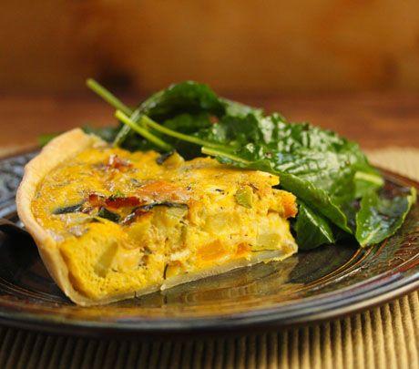 Recipe for zucchini, bacon and feta quiche {The Perfect Pantry}