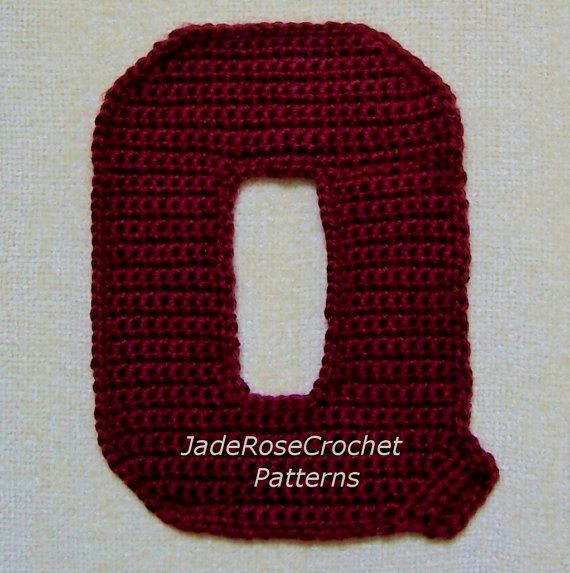 Crochet Stitches Letters : Crochet Letters Patterns Q by JadeRoseCrochet on Etsy, $2.50