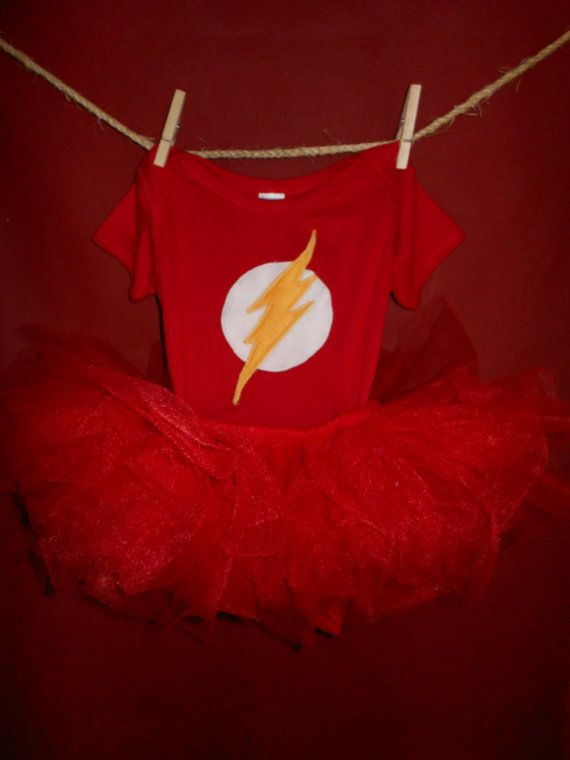 The Flash comic superhero Toddler Tutu by CookiesOwlsSunshine, $20.00