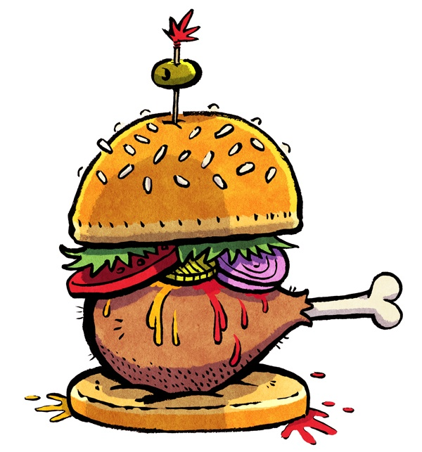 I want to eat chicken burgers. Really. I do.