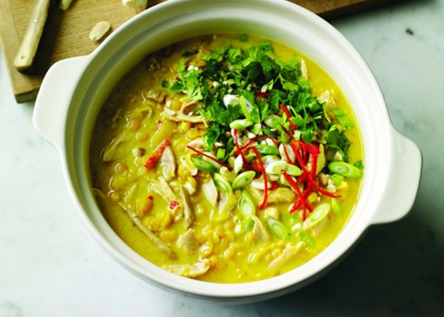 Chicken Mulligatawny Soup Recipe - Classic Indian flavors make a ...