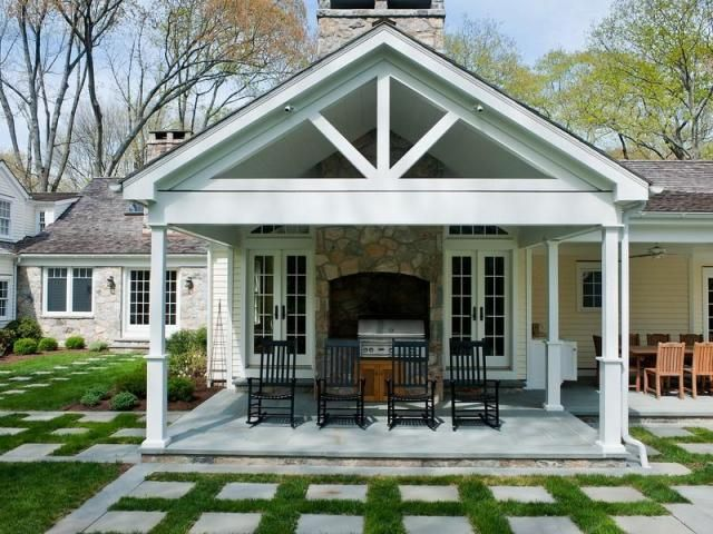 Covered porch - Covered patio small house plans ...