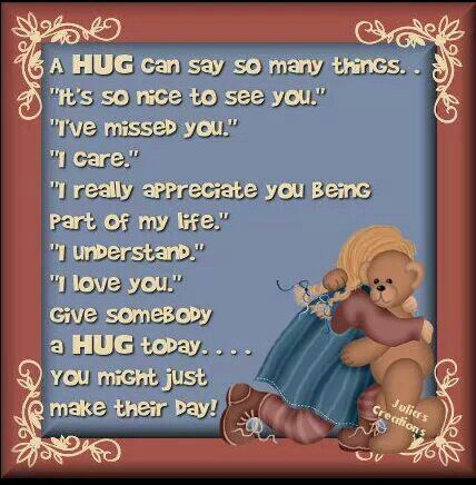 meaning of hugging