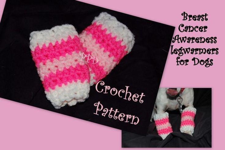 Free Crochet Pattern For Dog Leg Warmers : Breast Cancer Awareness Dog Leg Warmers Crochet It ...