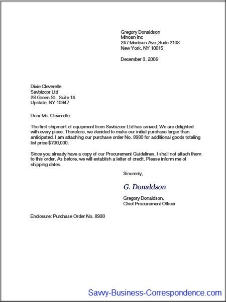 Modified block business letter format. | Business Letters | Pinterest