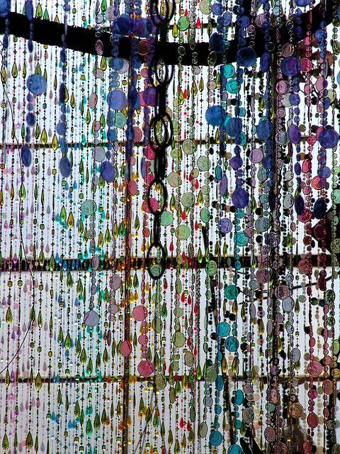 beaded window curtain | Bead Stash Projects | Pinterest