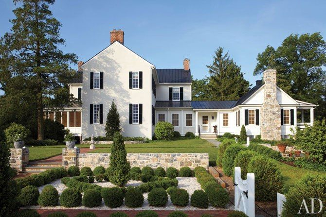 Virginia Farmhouse From Architectural Digest Home Style