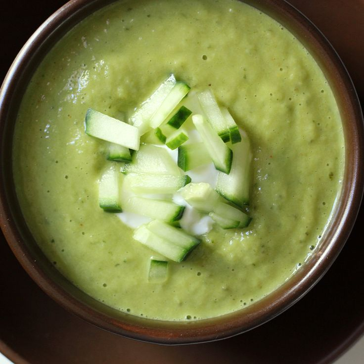 Belly Blaster: Chilled Cucumber and Avocado Soup. This will be perfect ...