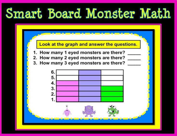 monster math smartboard for kindergarten and first grade. Black Bedroom Furniture Sets. Home Design Ideas