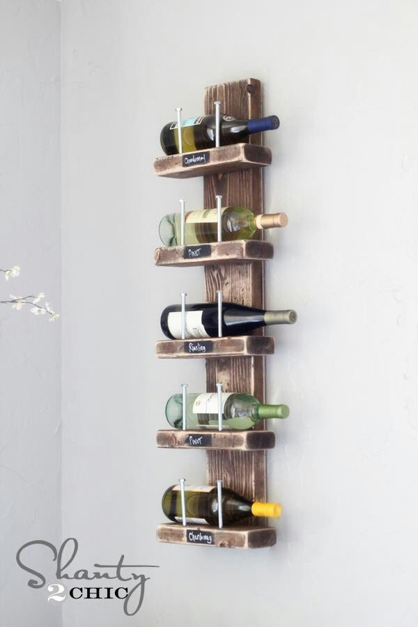 Diy wine rack pretty simple for the home pinterest for How to make a simple wine rack