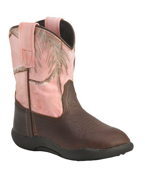 Pink camo rubber boots