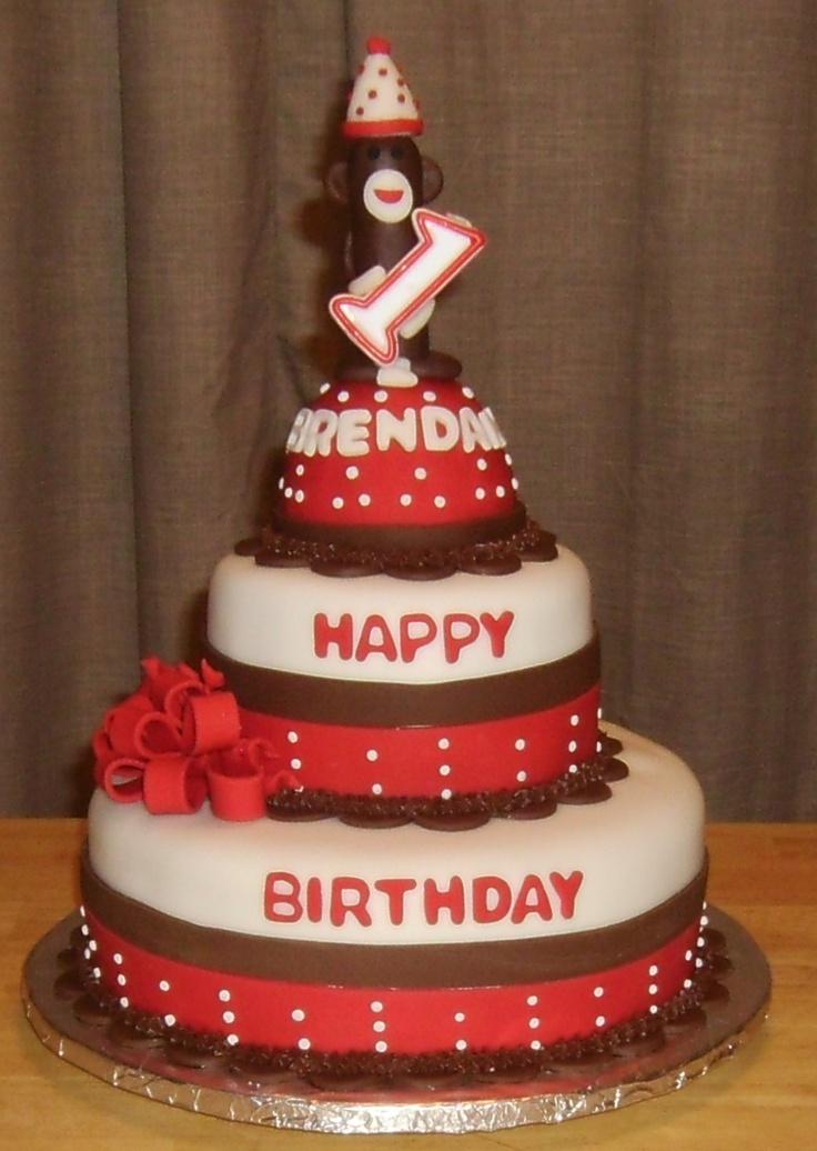 Sock Monkey Birthday Cake Birthday Ideas Pinterest