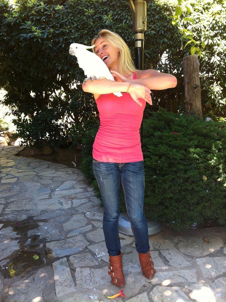 Playboy Mansion Backyard : Singing with Cleo in the back yard ) #PlayboyMansion
