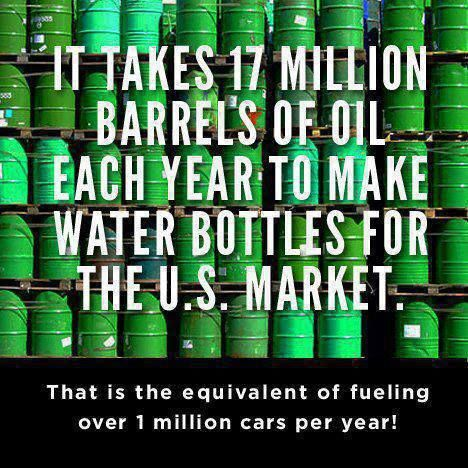 Plastic water bottles are a waste of our natural resources, not to mention that what companies put in them is STOLEN from public waterways for their own personal profit.