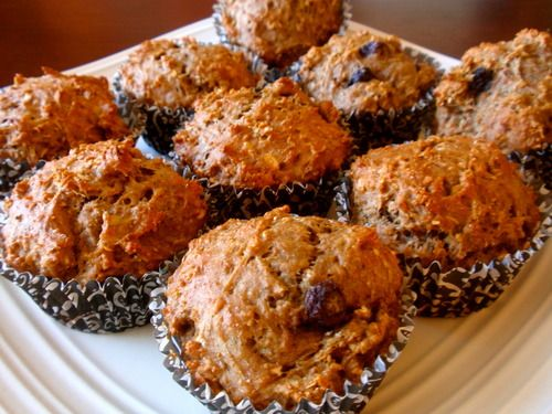 Peanut Butter banana blueberry muffins | I
