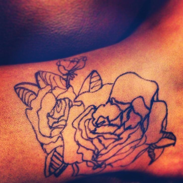 Rose Ankle Tattoo