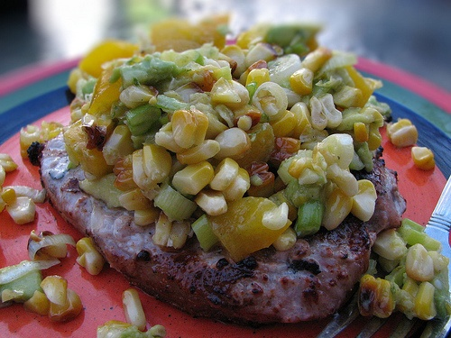 roasted corn relish with avocado
