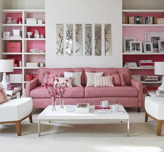 Love this pink space.