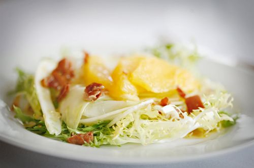Shaved Fennel and Orange Salad with Warm Prosciutto Vinaigrette by the ...