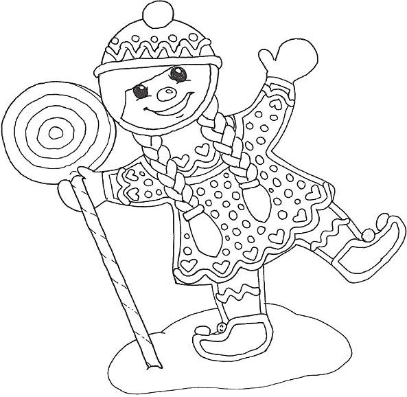 Cute Gingerbread Girl Coloring Pages