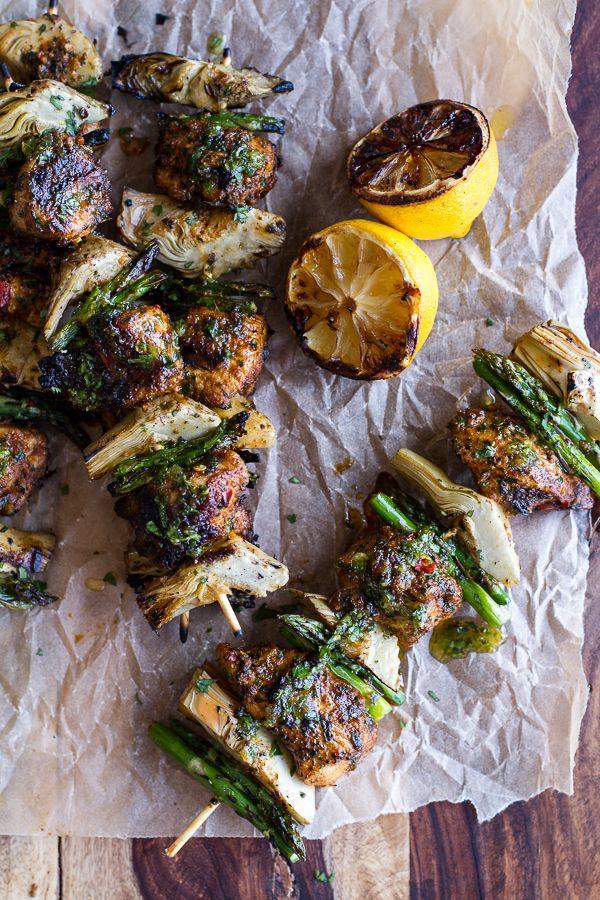 Lemony Moroccan-Style Chicken Kebabs Recipes — Dishmaps