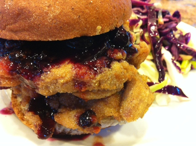 Chicken Sandwich with Spicy Blueberry Sauce from Jessica's Free Foodie ...