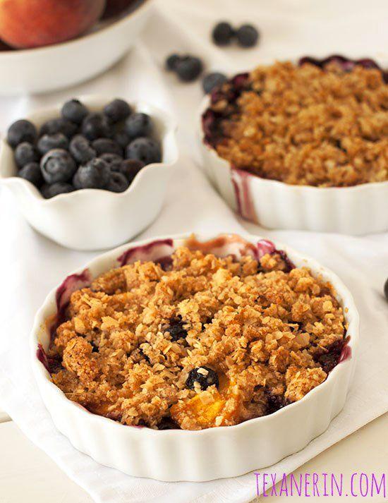 Blueberry Peach Crumble (100% whole grain + gluten-free) - Texanerin ...