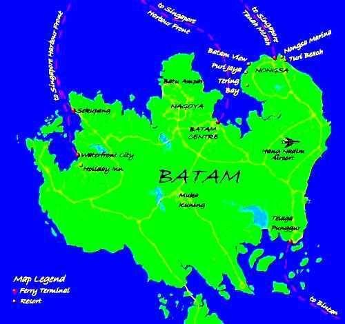 Batam | Peta Pulau Batam | Bonfire N BINTAN & BATAM ...