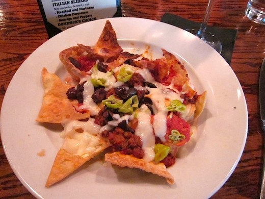 "Fried Pasta Nachos | Hmmmmm, ""man cannot live on water and bread alon ..."