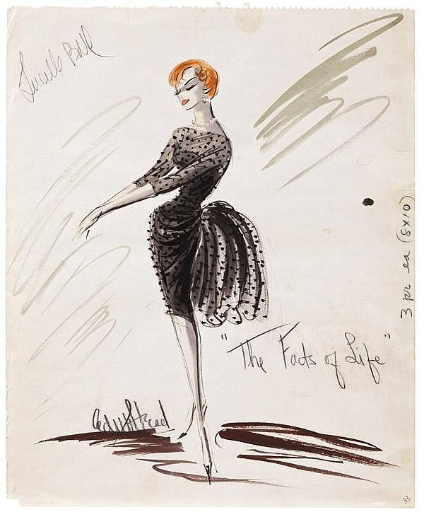lucille ball edith head design in the facts of life