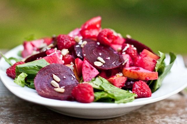 Beet, Apple, And Orange Salad In A Homemade Raspberry Vinaigrette ...