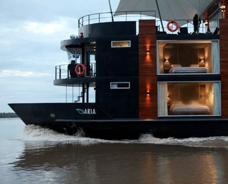 Luxury floating hotel on the Amazon River