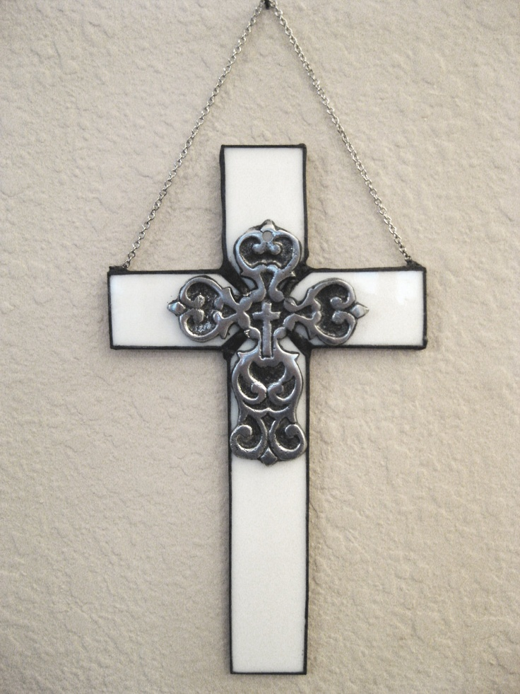 Wall Cross Stained Glass Cross Decorative Wall Or Window