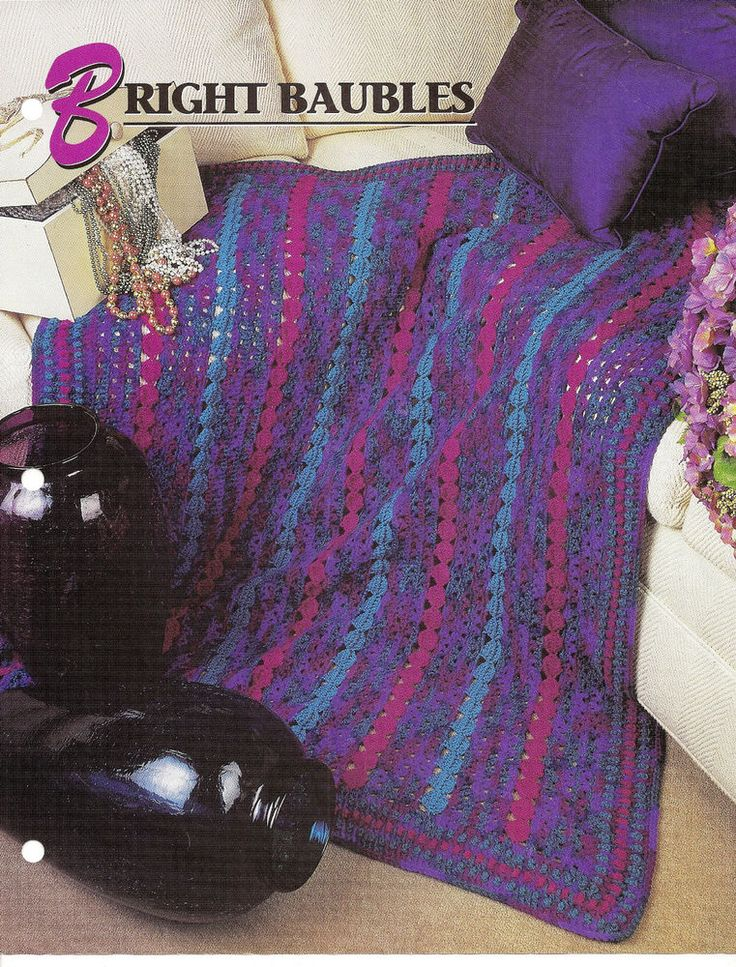 ... Baubles Afghan Crochet Pattern Annies Crochet Quilt & Afghan Club