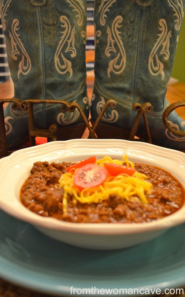 Real TEXAS Chili - add a few jalapenos and I think we'll have ...