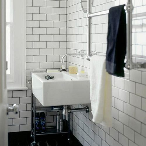 subway tile with dark grout small bathroom remodel pinterest. Black Bedroom Furniture Sets. Home Design Ideas