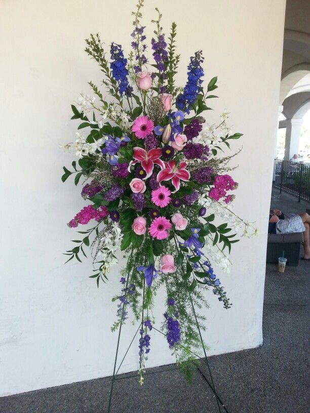 Purple pink and blue flower arrangement my flower for Pink and blue flower arrangements
