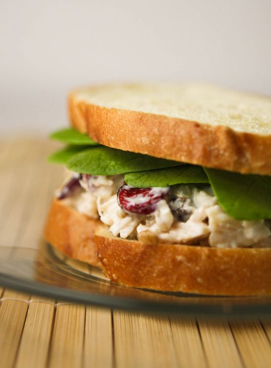 Chicken salad sandwich:One 12.5-oz. can chunk chicken, drained, pieces ...