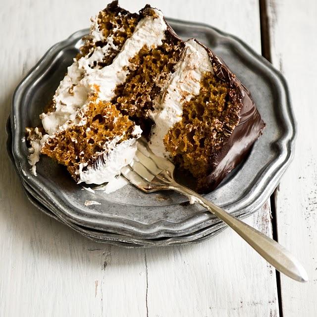 Pumpkin S'mores Cake, {recipe}