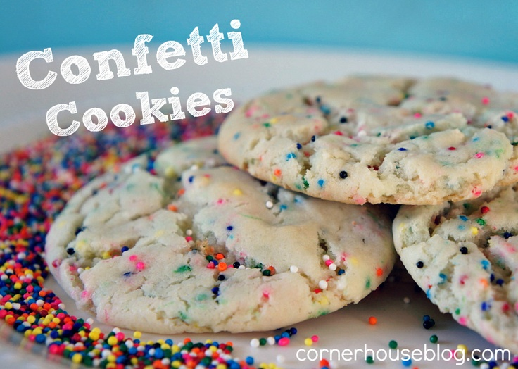 Confetti Cookies - uses a box of white cake mix! My grandson would