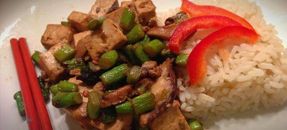 Shiitake Asparagus Tofu Stir-fry | Recipes & Cooking Tips | Pinterest